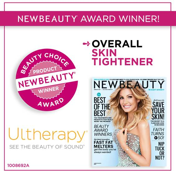 Premio premio 'Beauty Choice 2017' de la revista New Beauty en la categoría de: 'Overall Skin Tightener'